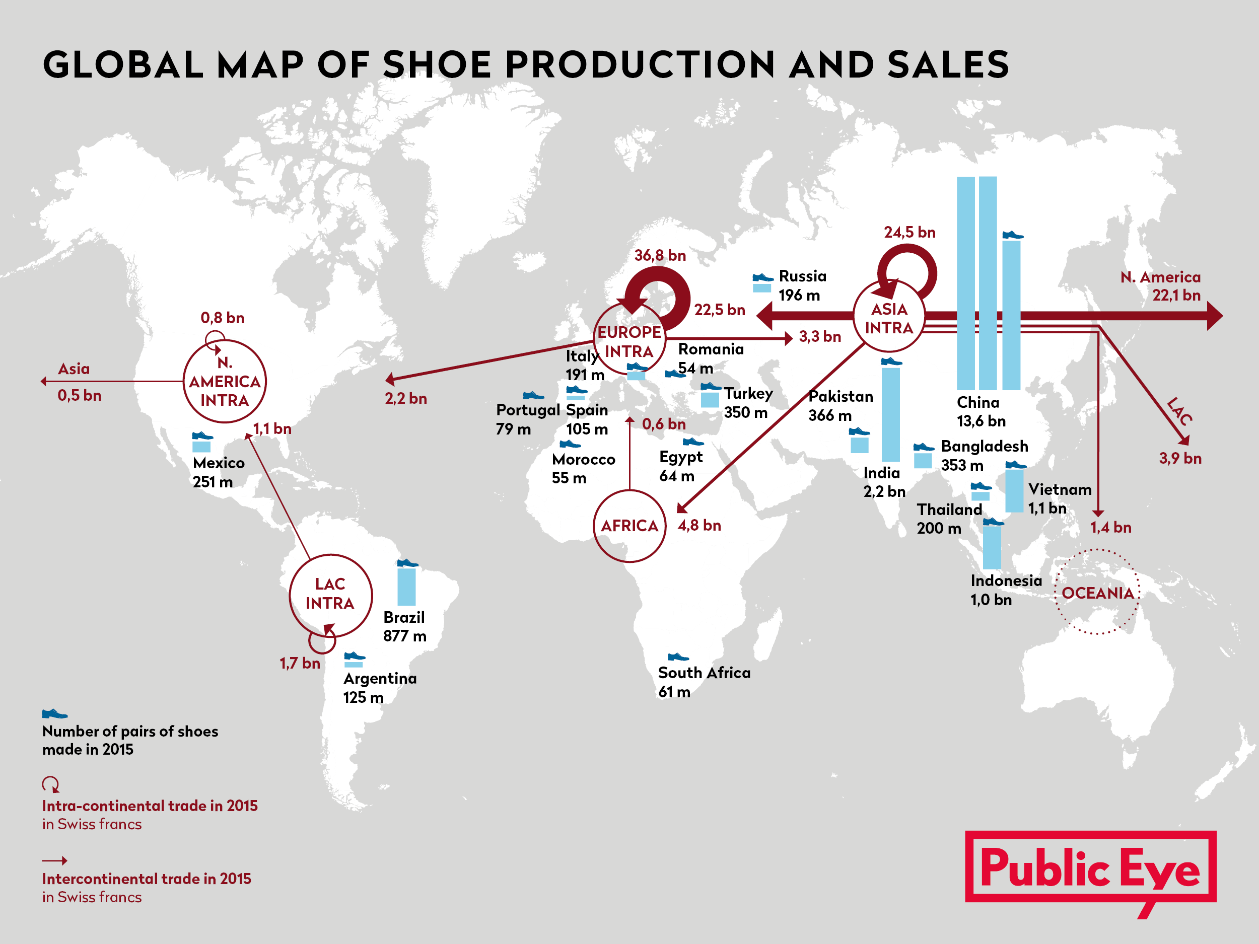 Global Map of Shoe Production and Sales @Public Eye
